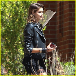 Kaia Gerber Returns to the Murder House for More 'AHS' Scenes!